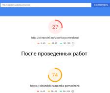 Оптимизация скорость загрузки сайта Cleandeli