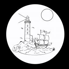 Маяк, море, корабль