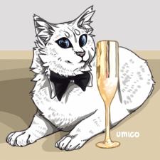 Кот с бокалом