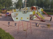 Парк с детской площадкой