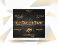 Баннер для квест-комнат г. Днепр Quest Time