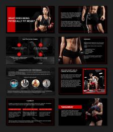 Шаблон презентации на тему фитнеса