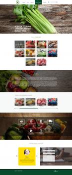 Дизайн главной страницы магазина продуктов