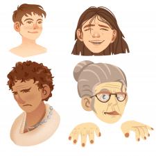 Лица в разных стилях