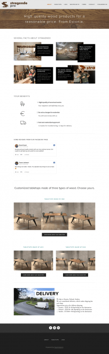 Tabletops Website editing ENG