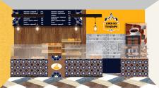 Дизайн и визуализация магазина-пекарни