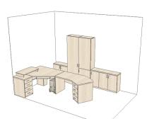 Схема размещения мебели в кабинете главврача