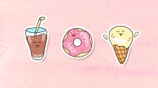 Стикеры Cute food