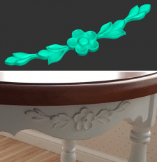 3D-модель цветка для станка ЧПУ