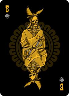 Spielkarten Indians- Skelette8