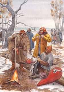 Новгородские воины, 1016г.