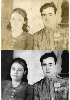 Реставрация фотографии с заменой лица
