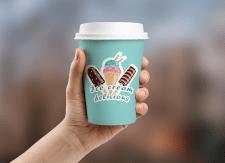 дизайн стакана Ice cream delicious