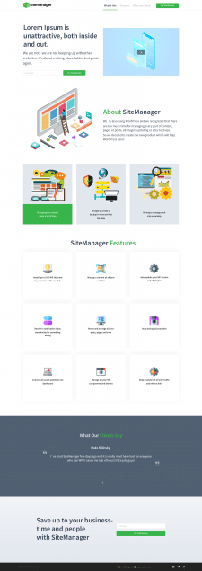 landing page for site-manager