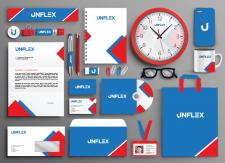 Фирменный стиль, нейминг и логотип для UNFLEX