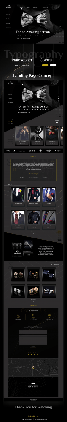 Landing Page for Bow Tie store