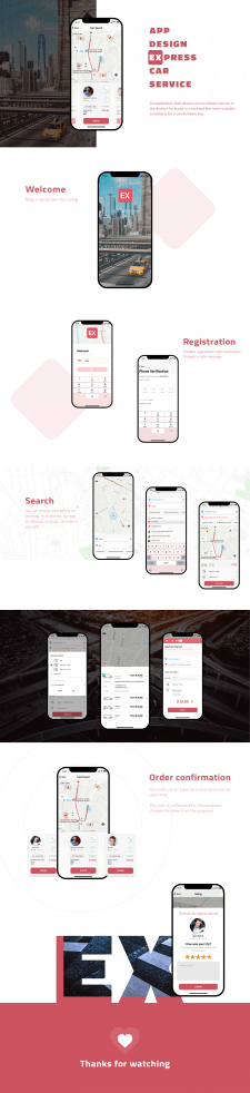 Express Taxi App Design IOS