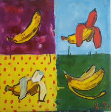 """Pop art bananas"""