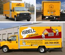 Наклейка на грузовик для компании ISBELL