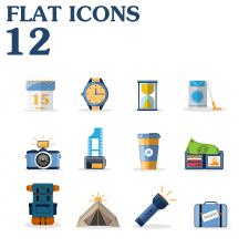 Сет иконок в Flat стиле.