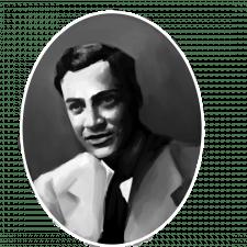 Портрет ЧБ. Річард Фейнман