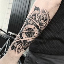 Тату часы tattoo clock