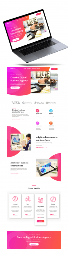 Digital agency web design