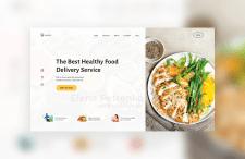 Банер сайта доставки еды