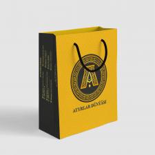 """Дизайн для бумажного пакета """"Atyrlar Dunyasi"""""""