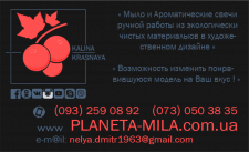 Визитка для бренда KALINA KRASNAYA и его сайта