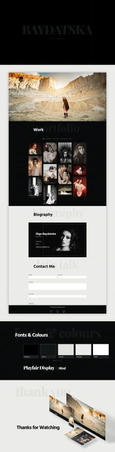 """Portfolio Website """"Baydatska Photography"""""""