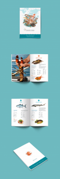 Каталог для поставщика охлажденных морепродуктов