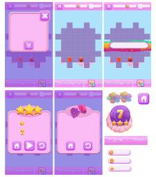 фоны и интерфейс для игры