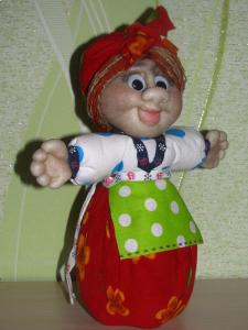 "Чулочная кукла ""Берегиня Соля"""