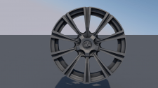 low poly wheel from a car lexus LX 570