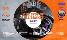 Верстка сайта с тормозными дисками NiBK