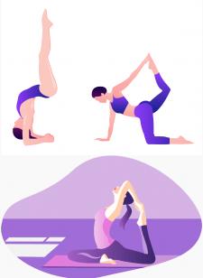 Йога - векторные иллюстрации