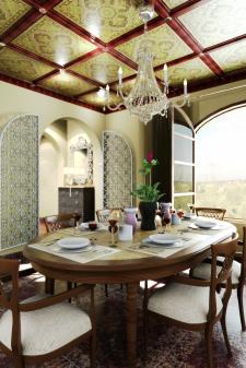 дизайн столовой в мавританском стиле