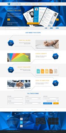 Дизайн сайта по созданию онлайн-резюме
