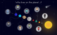 "illustration ""Who lives on the planet?"""