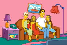 Портреты в стиле мультфильма The Simpsons