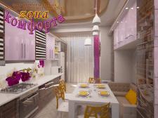 Кухня с орхидеями