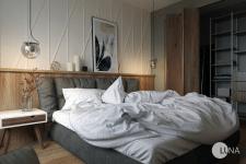 Дизайн  и виз спальни