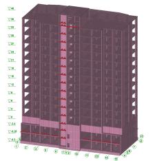 Розрахунок 16-ти пов.житлового будинку в SCADі