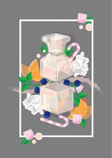 иллюстрация парфюм