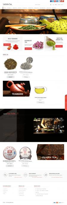 Сайт нтернет-магазина чая на Wordpress