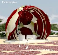 Проект оформлення свята гранату в Азербайджані