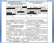 Договір про надання ліцензії на використання ПЗ