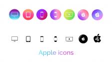 Уникальные иконки для магазина техники Apple