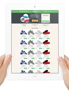 Разработка лендинга по продаже кроссовок
